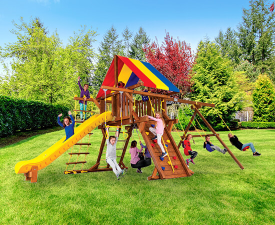 Residential Play Sets in Michigan - Swings & Play Structures - residential-playset